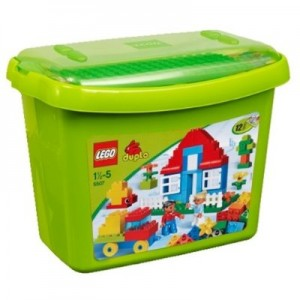 Photograph of lego tub