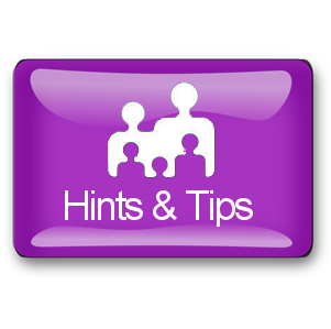 hints and tips button